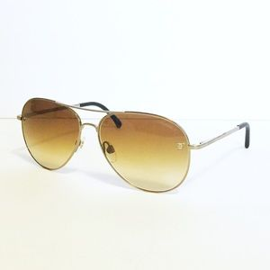 Chanel gold pilot aviator sunglasses model 4189